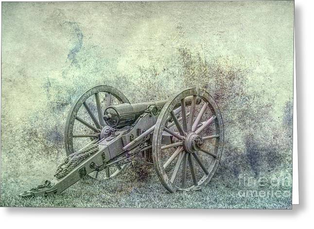 Silent Cannon Field Of Fire Greeting Card