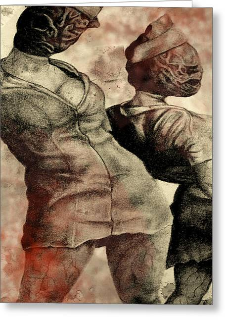 Silent Hill Nurses     Altered Greeting Card