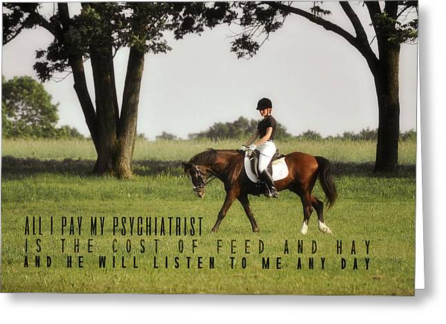 Silent Hoofbeats Quote Greeting Card