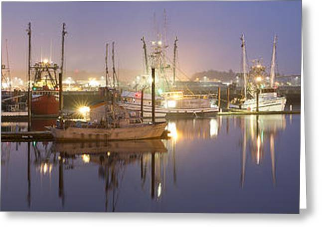 Early Morning Harbor II Greeting Card