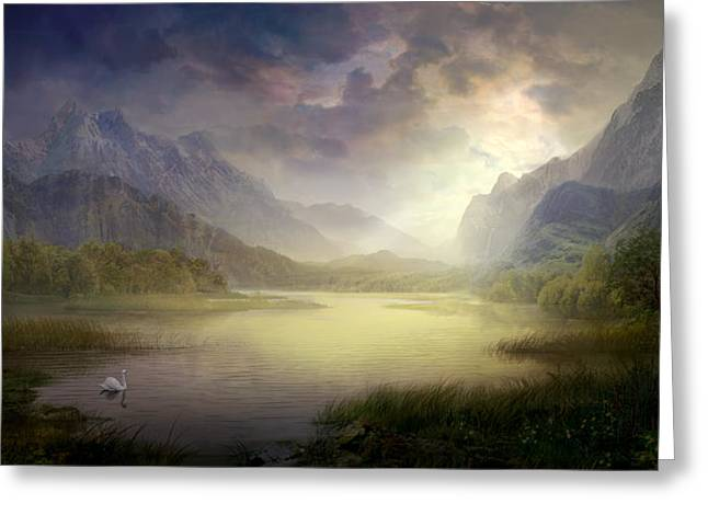 Silent Morning Greeting Card by Philip Straub