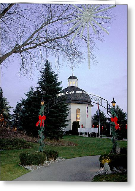 Silent Night Chapel Greeting Card