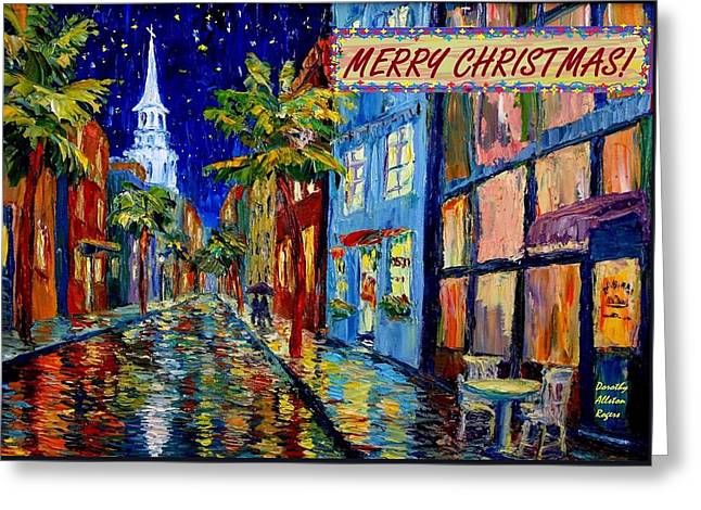 Silent Night Christmas Card Greeting Card