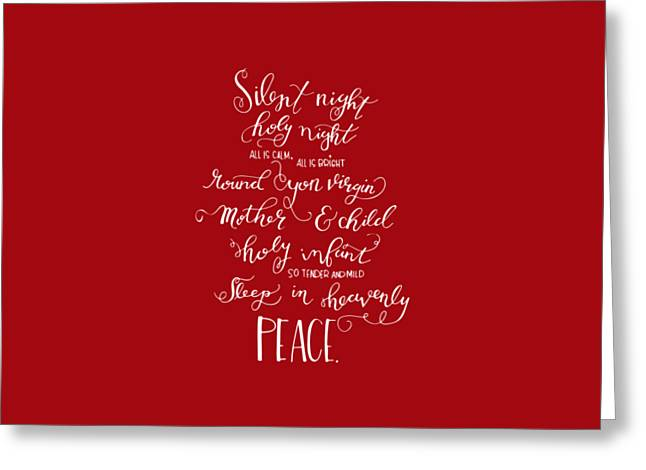 Silent Night Holy Night Greeting Card by Nancy Ingersoll