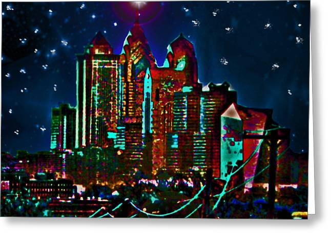 Silent Night Philly Night Greeting Card by Jonathan Shaps