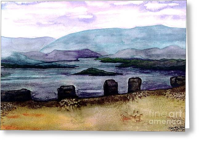 Greeting Card featuring the painting Silent Sentinels by Patricia Griffin Brett