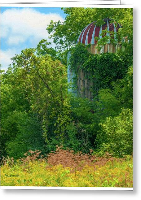 Silent Silo On Nottleson Road Greeting Card by Trey Foerster
