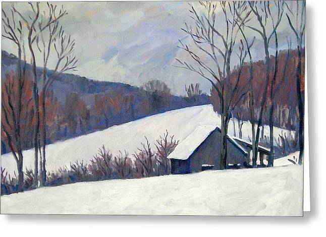 Silent Snow Berkshires Greeting Card by Thor Wickstrom
