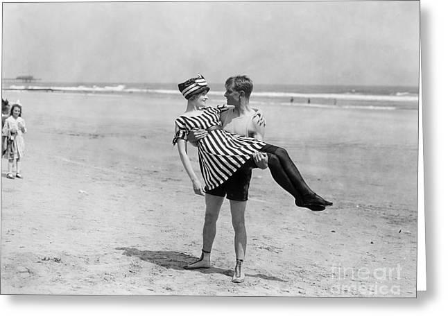Silent Still: Beach Greeting Card by Granger