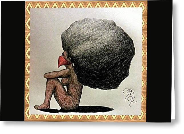 Silent Strength Greeting Card by Jeffery Miles