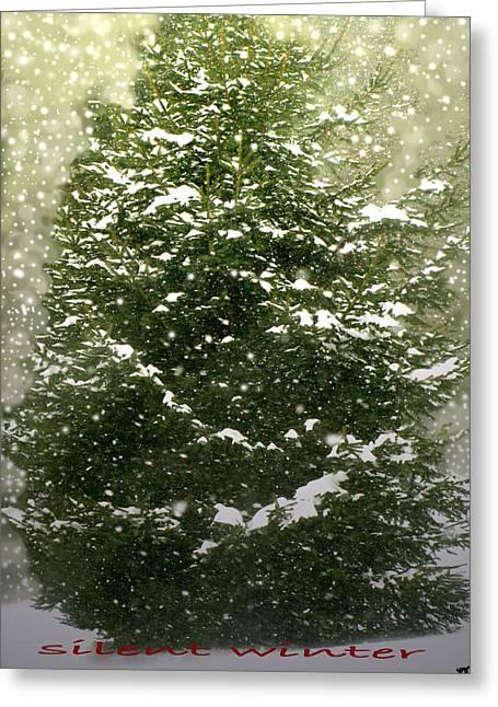 Silent Winter Greeting Card by Debra     Vatalaro