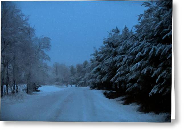 Greeting Card featuring the photograph Silent Winter Night  by David Dehner