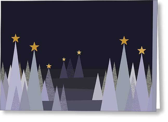 Silent Winter Night Greeting Card