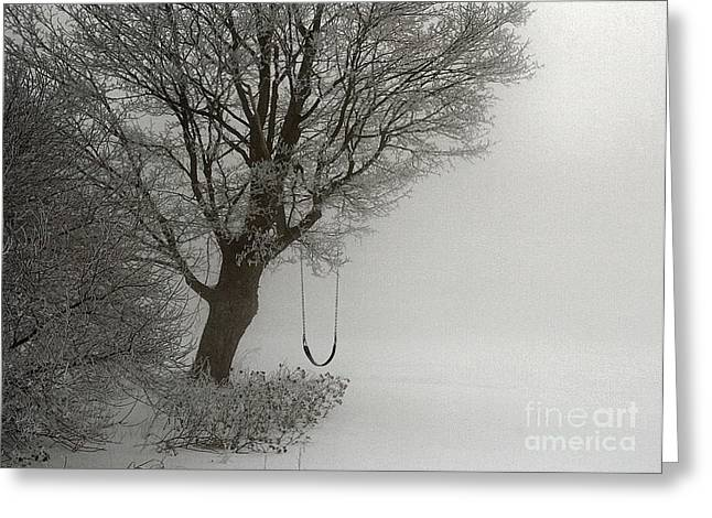 Greeting Card featuring the photograph Silently Swinging by Jan Piller