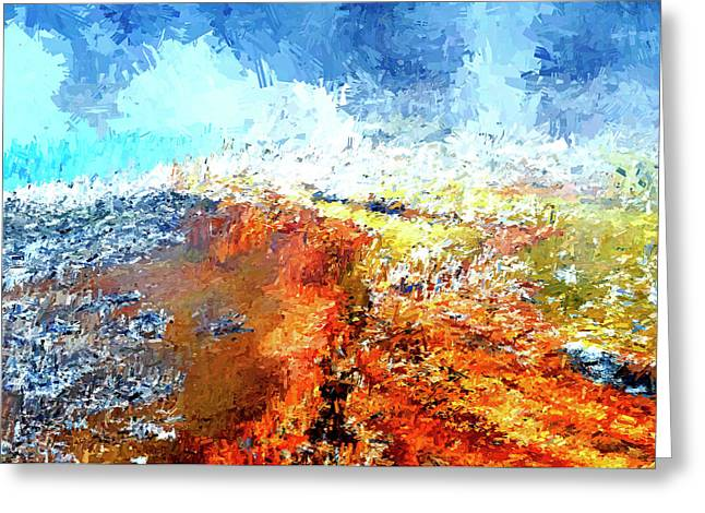 Silex Hot Springs Abstract Greeting Card