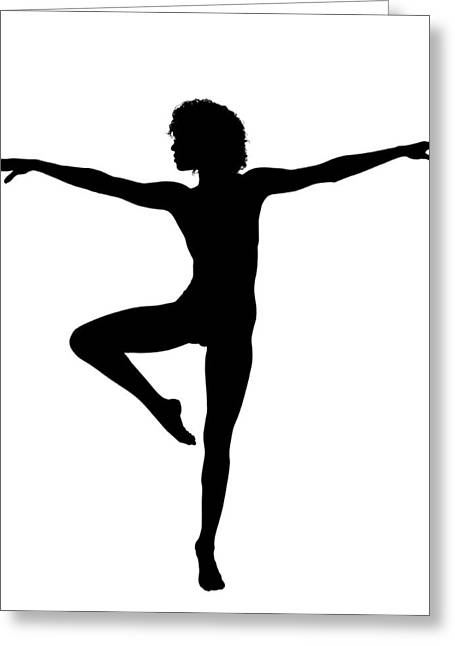 Silhouette 24 Greeting Card