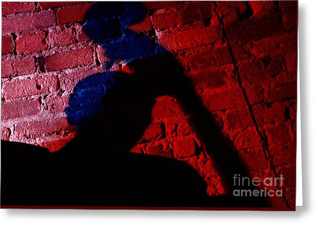 Silhouette Of A Jazz Musician 1964 Greeting Card by The Harrington Collection