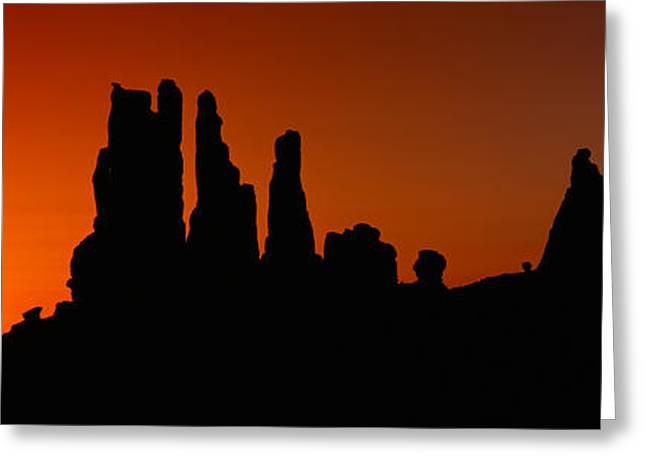 Silhouette Of Arizona Desert Rock Greeting Card by Panoramic Images