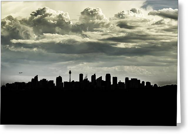 Silhouette Of Sydney Greeting Card