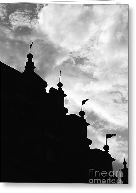 Silhouette Of The Roof In Rothenburg Germany Greeting Card by Hideaki Sakurai