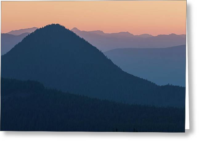 Greeting Card featuring the photograph Silhouettes At Sunset, No. 2 by Belinda Greb