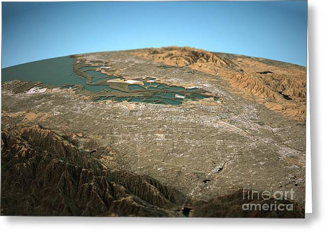 Silicon Valley 3d View Wide Angle Natural Color Greeting Card
