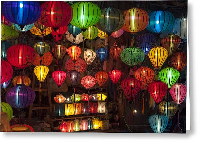 Silk Lanterns Greeting Card by Rob Hemphill
