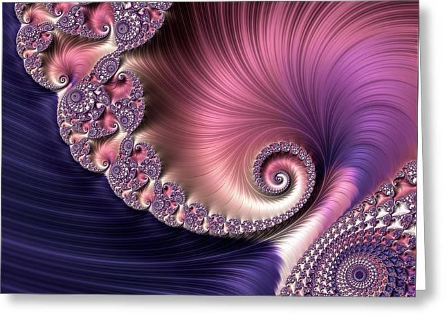 Greeting Card featuring the digital art Silk by Susan Maxwell Schmidt