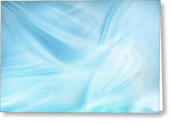 Silky Blue Lines Greeting Card by Les Cunliffe