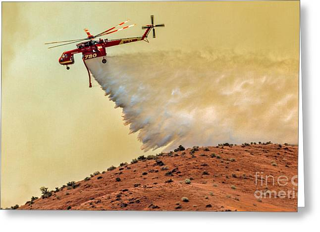 Siller Helicopter  Greeting Card by Robert Bales