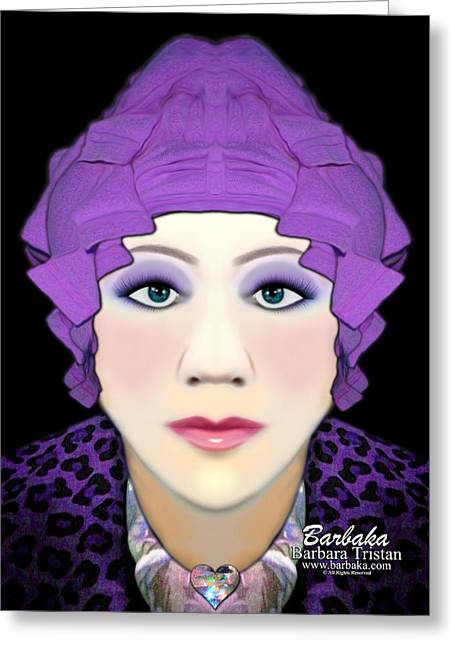 Greeting Card featuring the photograph Silly Headdress by Barbara Tristan