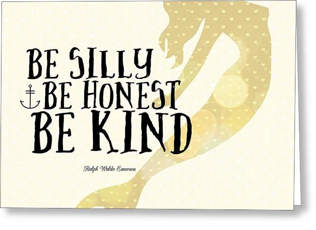 Silly Honest Kind Mermaid V4 Greeting Card
