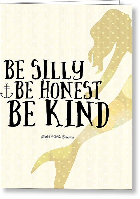 Silly Honest Kind Mermaid V4 Greeting Card