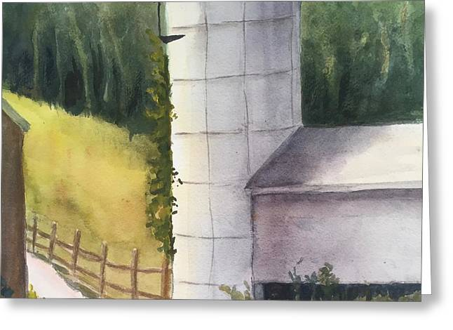 Silo Greeting Card by Peggy Poppe