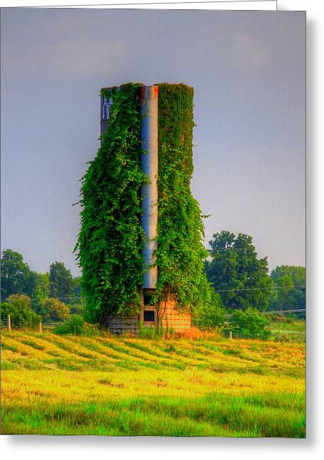 Silo Greeting Card by Robert Pearson