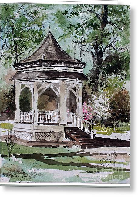 Siloam Springs Park Greeting Card by Monte Toon