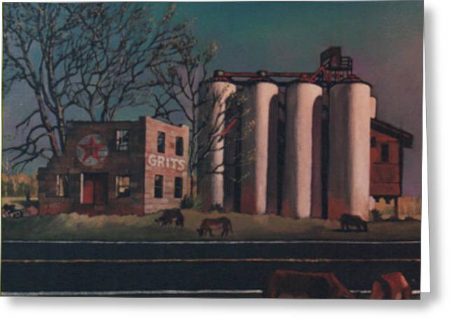 Silos Greeting Card by Blue Sky