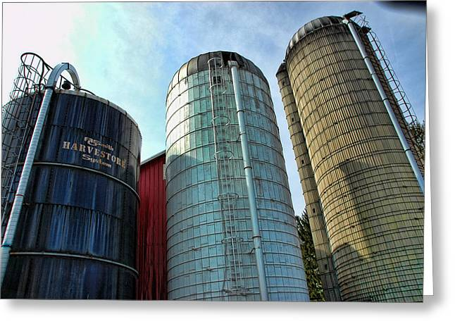 Silo Greeting Cards - Silos Greeting Card by Paul Ward