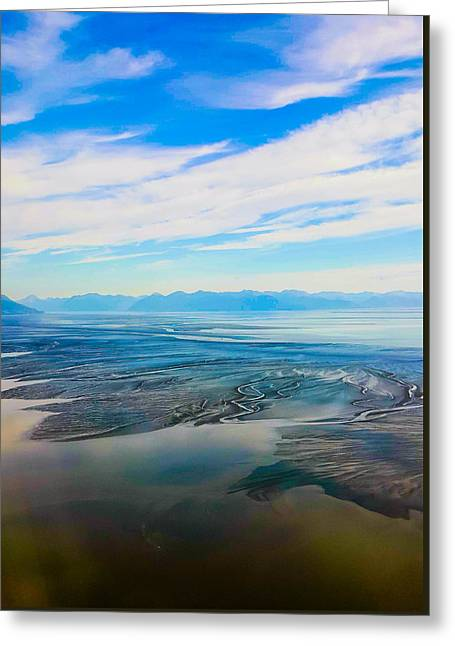 Silty Sand In Cook Inlet Greeting Card by Britten Adams