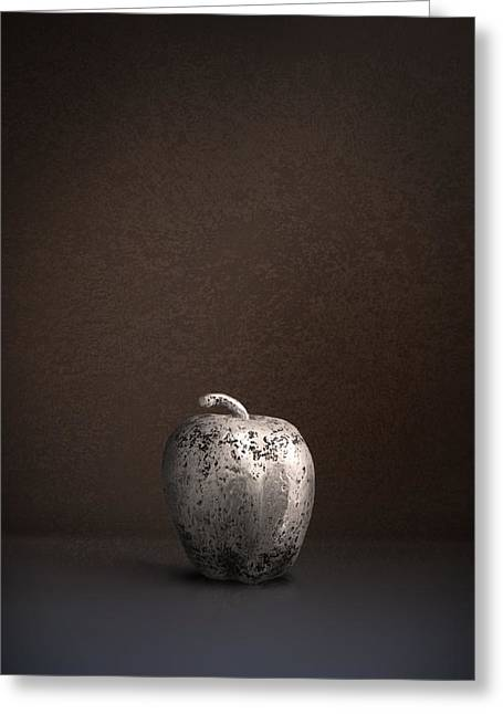 Silver Apple Greeting Card by Julius Reque