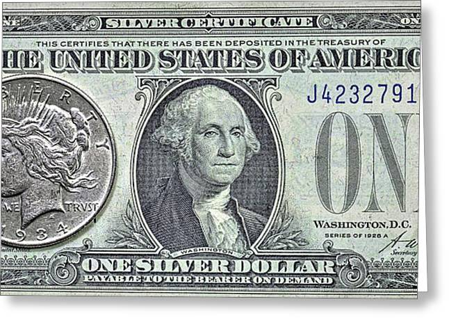 Silver Certificate  Greeting Card by JC Findley