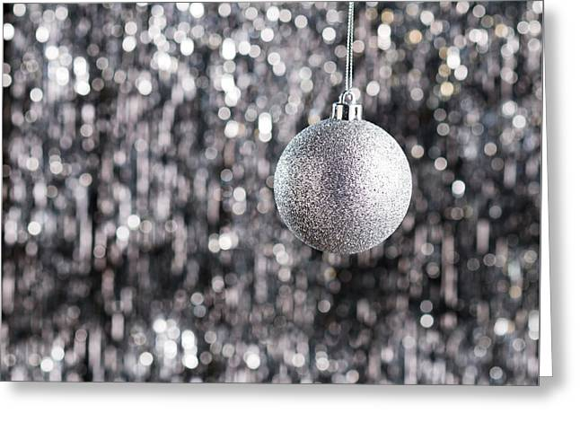 Greeting Card featuring the photograph Silver Christmas by Ulrich Schade