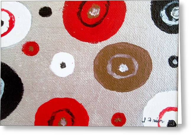 Silver Circle Abstract Greeting Card by Jamie Frier
