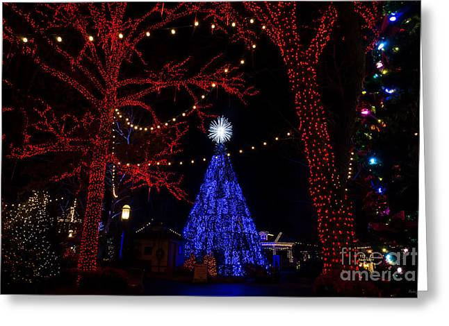 Silver Dollar City Christmas Greeting Card by Jennifer White