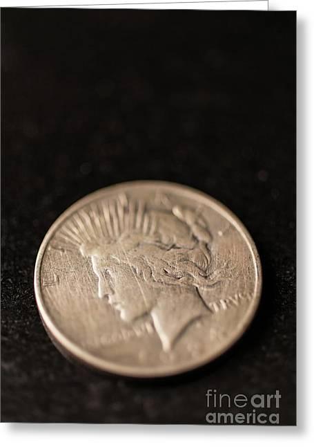 Silver Dollar Greeting Card by Edward Fielding