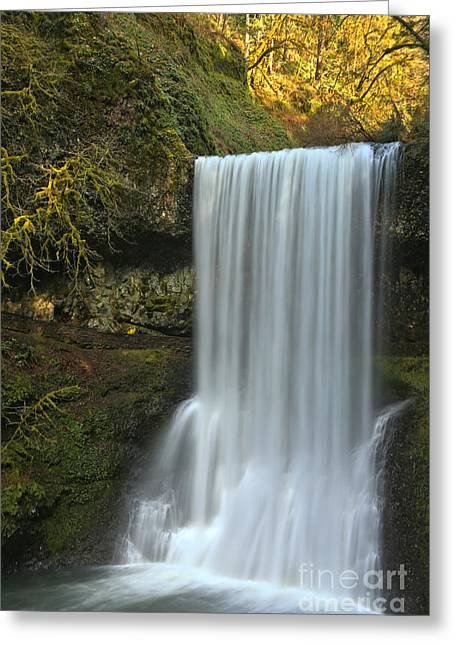 Silver Falls Lower South Falls Greeting Card