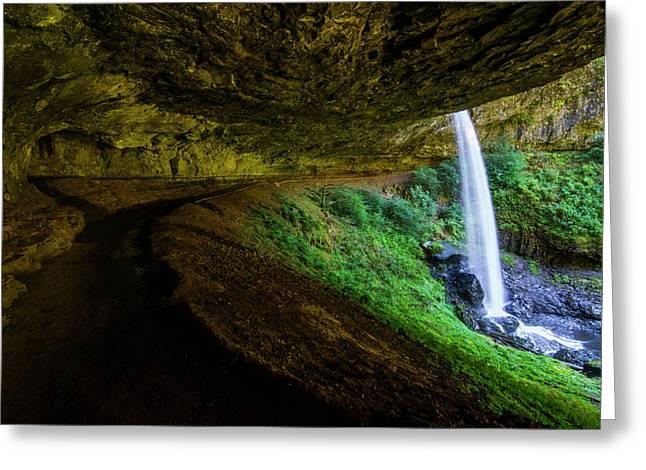 Silver Falls - North Falls Greeting Card by Pelo Blanco Photo