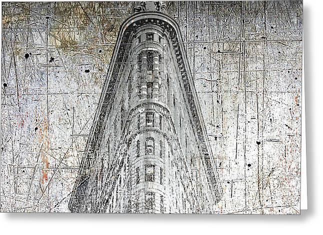Silver Flatiron Building Greeting Card by Tony Rubino