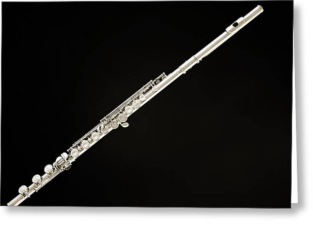 Silver Flute Greeting Card