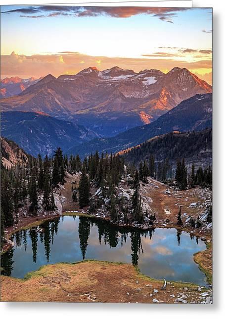 Silver Glance Lake Ig Crop Greeting Card